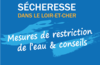 Sécheresse : mesures de restriction de l'eau